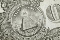 Pirámide del detalle del dólar Foto de archivo libre de regalías