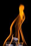 Pirámide del fuego y del hielo Imágenes de archivo libres de regalías