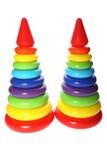 Pirámide del juguete de los niños Imagen de archivo libre de regalías