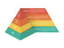 Pirámide del márketing - el vector Infographic Imagen de archivo libre de regalías