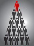 Pirámide del negocio Foto de archivo libre de regalías