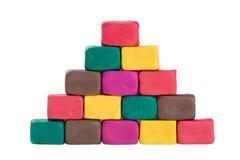 Pirámide del Plasticine imágenes de archivo libres de regalías