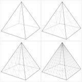 Pirámide del simple al vector complicado 09 de la forma ilustración del vector