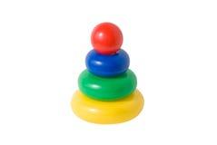 Pirámide educativa de los juguetes de los niños Fotos de archivo libres de regalías