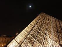 Pirámide en la noche   fotos de archivo