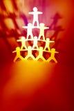 Pirámide humana Foto de archivo libre de regalías