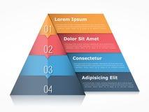 Pirámide Infographics stock de ilustración