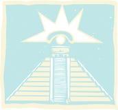Pirámide maya con Venus Eye Glyph Foto de archivo libre de regalías