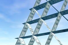 Pirámide monetaria Imagen de archivo libre de regalías