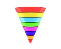 Pirámide multicolora de Infographic del negocio Fotos de archivo