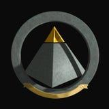 pirámide Oro-inclinada Foto de archivo libre de regalías