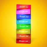 Pirámide rectangular vertical Fotos de archivo libres de regalías
