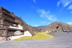 Pirámide XII de la luna, teotihuacan foto de archivo
