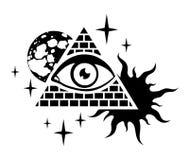 Pirámide y el ojo Foto de archivo