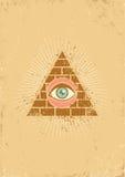 Pirámide y ojo Foto de archivo