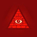 Pirámide y ojo Fotografía de archivo libre de regalías