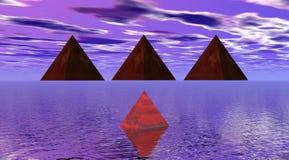 Pirámides stock de ilustración
