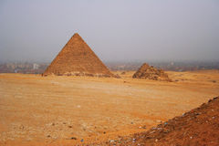 Pirámides de Egipto Imagen de archivo libre de regalías