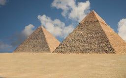 Pirámides de Giza Fotografía de archivo