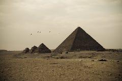 Pirámides de Giza Foto de archivo