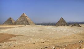 Pirámides de Gizag Imagen de archivo libre de regalías
