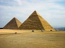 Pirámides de Gyza fotos de archivo