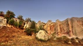 Pirámides de Kardjali, Bulgaria Imagen de archivo libre de regalías