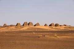 Pirámides de Meroe Imagenes de archivo
