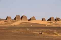 Pirámides de Meroe Fotografía de archivo