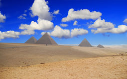 Pirámides egipcias Fotografía de archivo