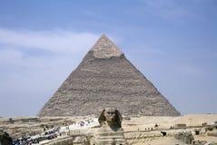 Pirámides grandes de Egipto Foto de archivo