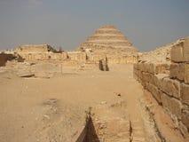 Pirámides grandes de Egipto Fotos de archivo