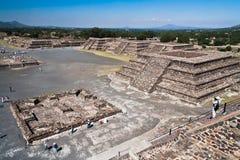 Pirámides México de Teotihuacan Foto de archivo libre de regalías