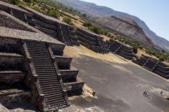Pirámides México de Teotihuacan Imagen de archivo libre de regalías