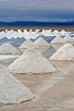 Pirámides saladas Fotografía de archivo libre de regalías