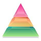 pirâmide 3D Imagem de Stock