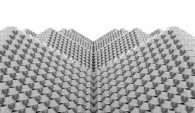 A pirâmide cuba o conceito rendido ilustração royalty free