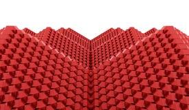 A pirâmide cuba o conceito rendido ilustração do vetor