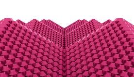 A pirâmide cuba o conceito rendido ilustração stock