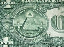 Pirâmide da conta de dólar Fotografia de Stock