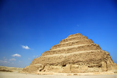 A pirâmide da etapa de Djoser em Egipto Imagens de Stock