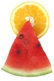 Pirâmide da fruta da luz do sol imagem de stock