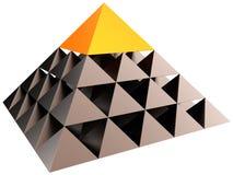 Pirâmide da hierarquia da liderança (alugueres) Foto de Stock Royalty Free