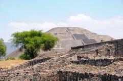 Pirâmide da lua. Cidade de Teotihuacan, México Fotografia de Stock Royalty Free