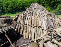 Pirâmide da madeira 2 Fotografia de Stock Royalty Free