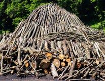 Pirâmide da madeira Foto de Stock Royalty Free