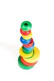 Pirâmide da madeira do brinquedo do bebê Imagens de Stock Royalty Free