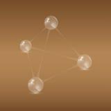 Pirâmide das bolas ilustração stock