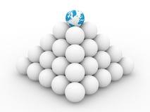 Pirâmide das esferas no fundo branco ilustração do vetor
