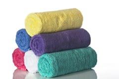 Pirâmide das toalhas Fotografia de Stock